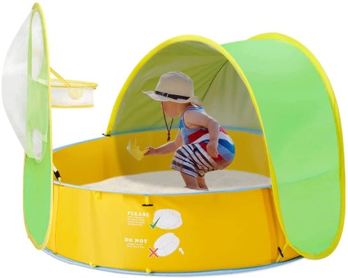 fbsport baby beach tent isolated on white background