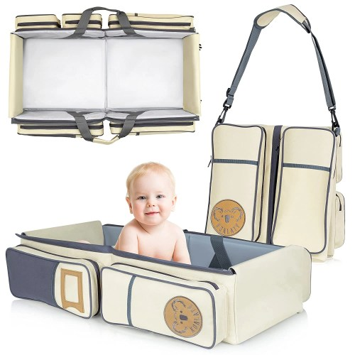koalaty 3 in 1 universal baby travel bag isolated on white background