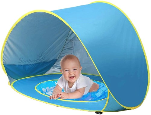sunba youth baby beach tent isolated on white background