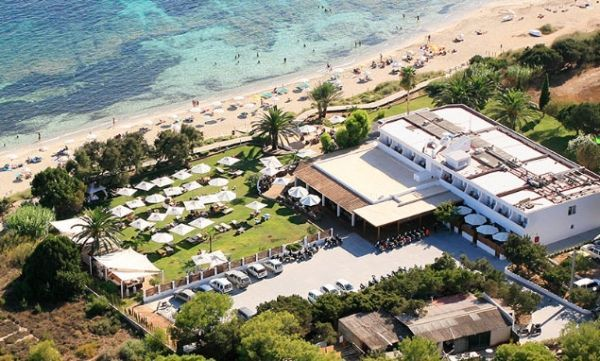 vista aerea del hotel