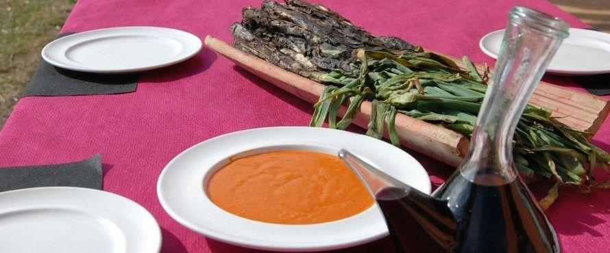 Comida tipica catalana en Vilar Rural