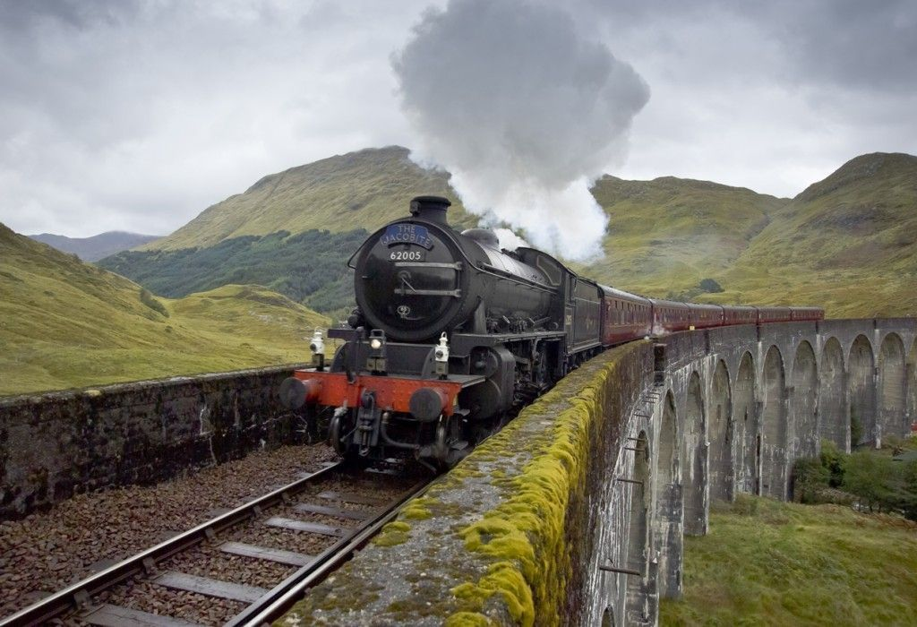 Tren de vapor Harry Potter por Escocia