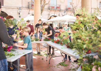 talleres de flores en pueblo español