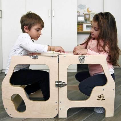 torre di apprendimento convertibile Baby Wood