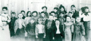 Possibly Davis School which merged with Carrizo School in 1920  my Grandma Susie Huckaby is on far left and my great aunt Nora Layton is on the far right