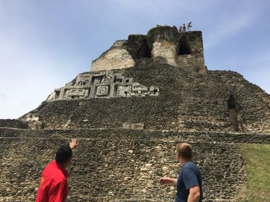 The Mayan temples.