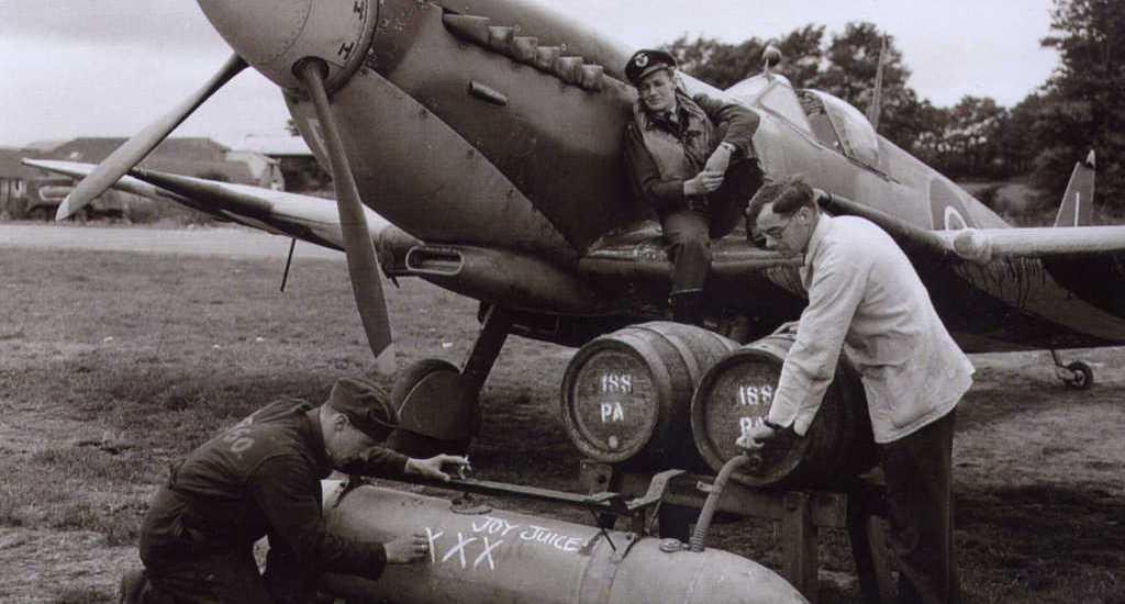 Spitfire delivering beer