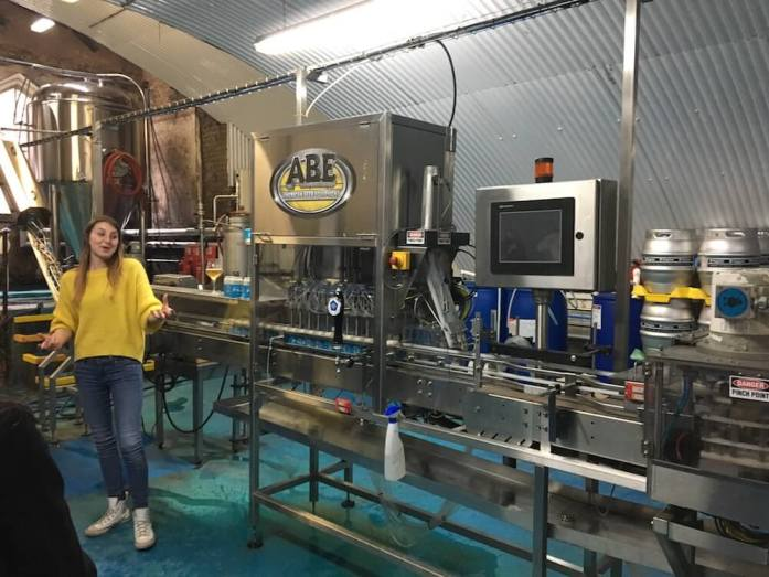 Five Points' Alix gets excited by the canning machine