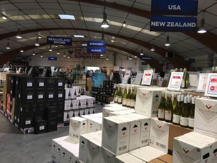 Cheap Wine Heaven at Calais