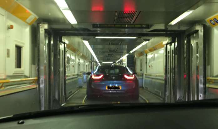 drivng onto the euro tunnel