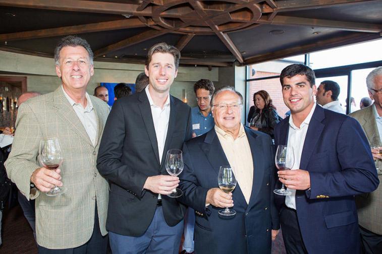 Steve Cousins, Anthony Van Nice, Joe Antonini (Co-Founder and Chairman, Andretti Winery), Mark Canty (Director, Bacchus Capital)