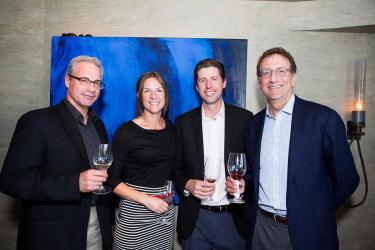 (L-R) Tony Rynders, Gretchen Boock (General Manager, Wine By Joe/Dobbes Family Estate), Anthony Van Nice (Chief Operating Officer, Wine By Joe/President, Panther Creek Cellars), Sam Bronfman