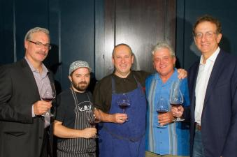 (L-R) Tony Rynders, Consulting Winemaker, Panther Creek Cellars; Doug Adams, Executive Chef, Imperial; Vitaly Paley, Chef/Owner, Imperial; Ken Wright, Founder, Panther Creek Cellars; Sam Bronfman, Co-Founder, Managing Partner, Bacchus Capital. Photo Credit: Chris Bidleman