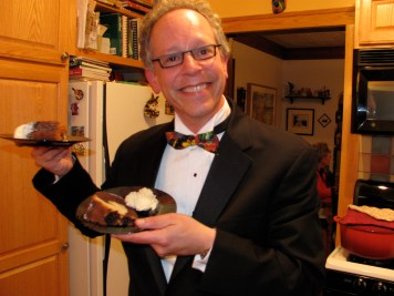 In the kitchen, George Reizner, board member