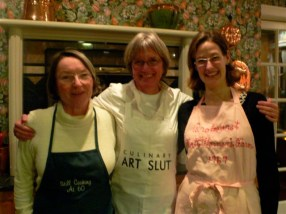 In the kitchen: Anne Wadsack, Daphne Webb, board members, & Samantha Crownover, executive director