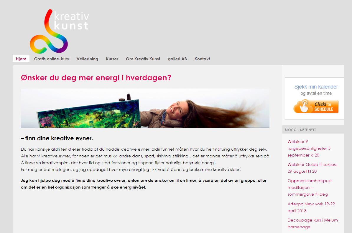 AB kreativ kunst ny hjemmeside