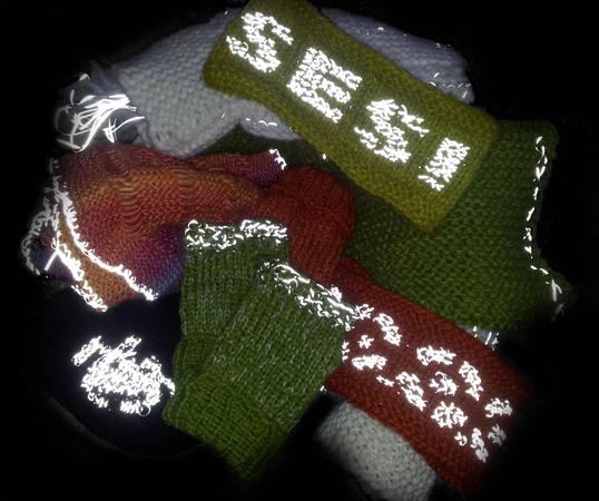 Mange muligheter med reflekstråd / many possiblities with reflex yarn