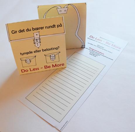 Do less ~ Be more - flyer, invitasjon og notatblokk i et / flyer, invitation and notepad