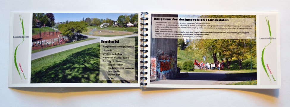 Designprofil Lundedalen innhold og bakgrunn / design profile content and background