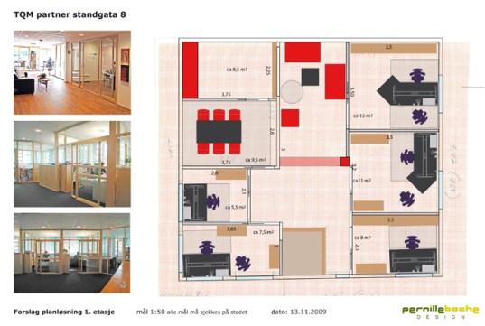 TQM interiør stil og planløsning / interior style and plan