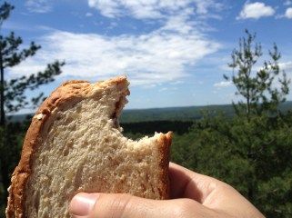 This is what I call lunch with a view at Algonquin National Park.