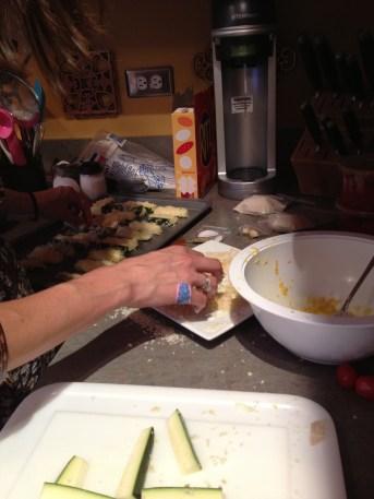 Jule breading baked zucchini
