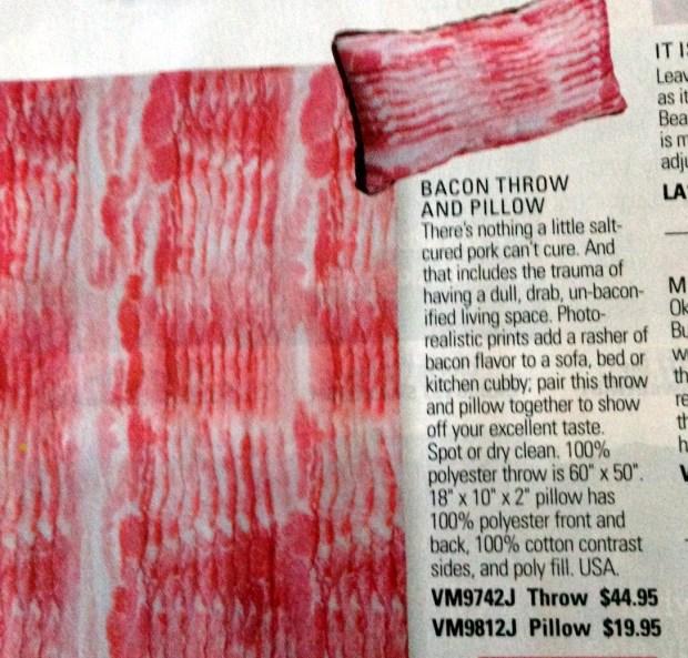 bacon pillow