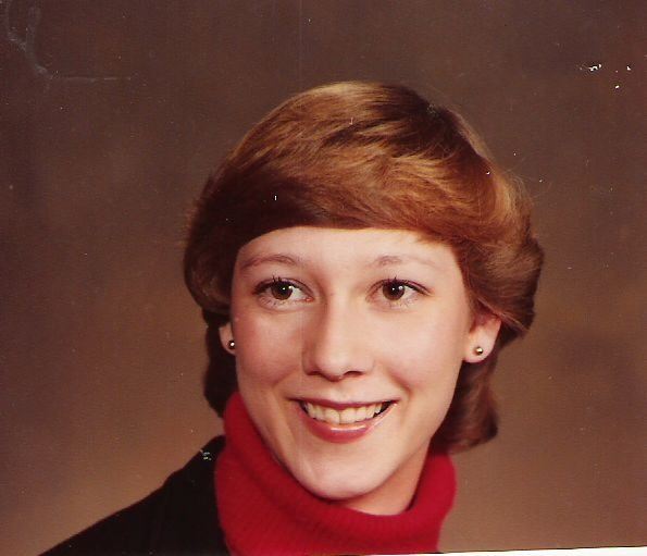 My college senior picture after contacts!