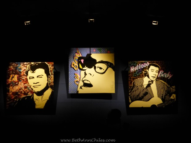 """At the back of the ballroom we are reminded of the tragic deaths of Buddy Holly, """"The Big Bopper"""" and Ritchie Valens on February 2, 1959."""