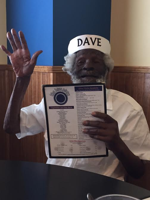 dave blue plate