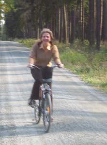 Tamara auf dem Fahrrad