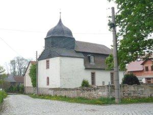 Die kleine Dorfkirche von Kötschau