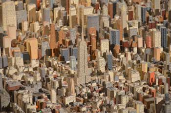 Queens Museum of Art | The Panorama of the City of New York | close-up view over Manhattan, centered on the Empire State Building, also showing the Chrysler Building et al (c)  Chris Devers http://www.flickr.com/photos/cdevers