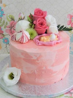 Cake - Bebé floral 2