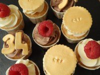 Mini cupcakes party gold 10
