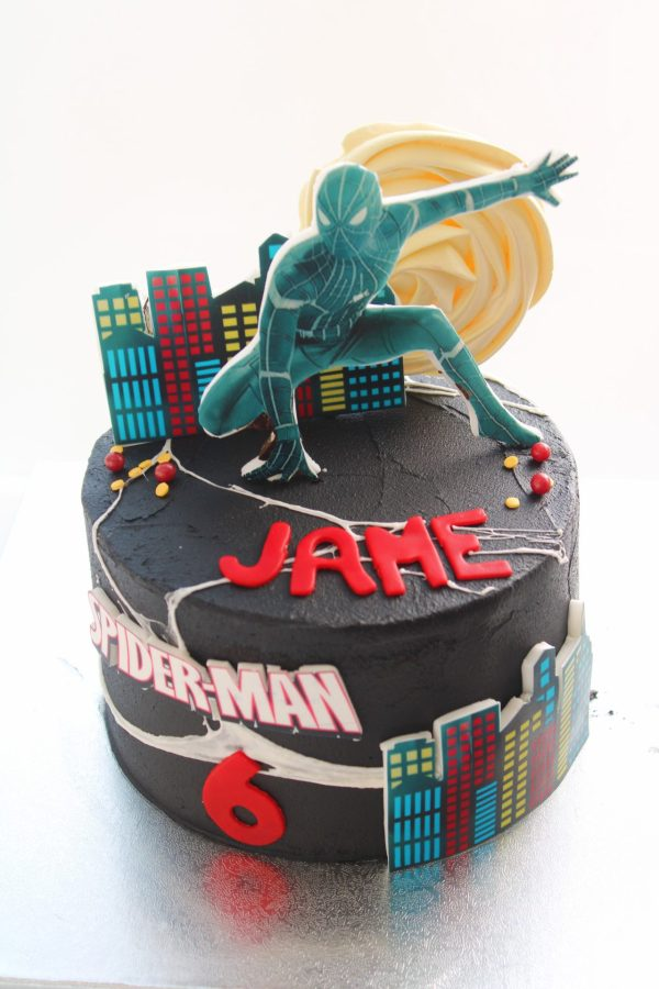 pastel spiderman barcelona
