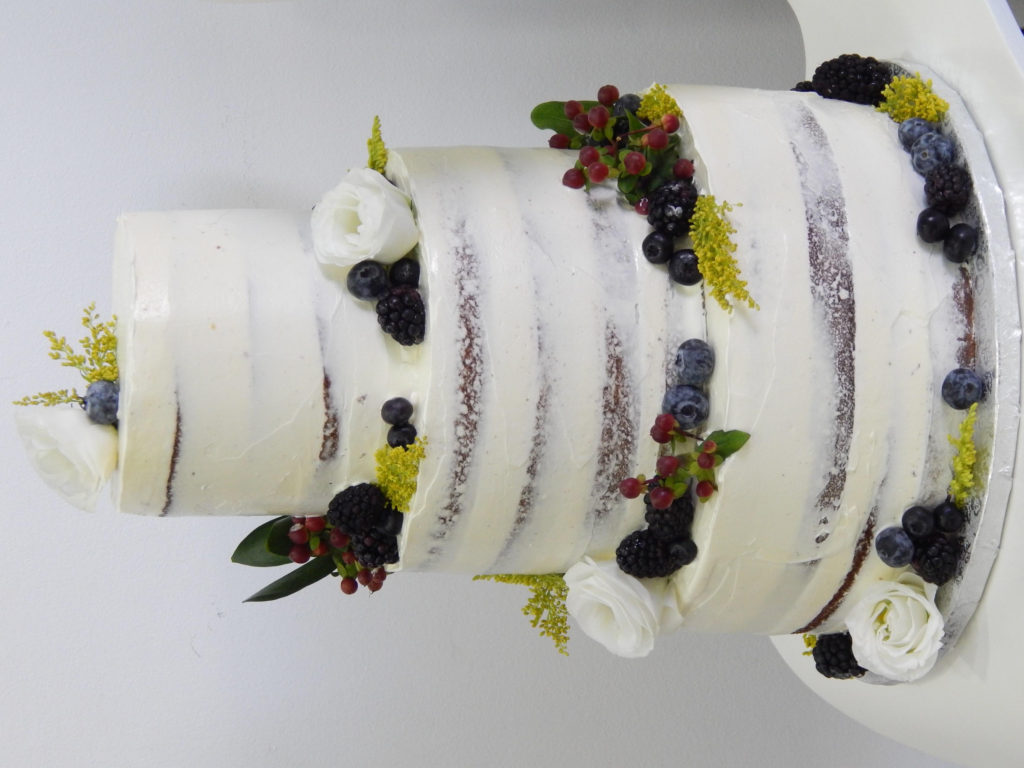 pastel de boda rústica barcelona
