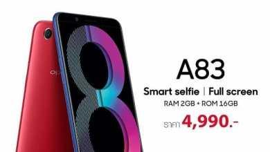 - KV A83 20182gb  1 - OPPO A83 (2018) ราคาเริ่มต้น 4,990 บาท กล้องหน้า 8MP กล้องหลัง 13MP หน้าจอแบบ Full Screen