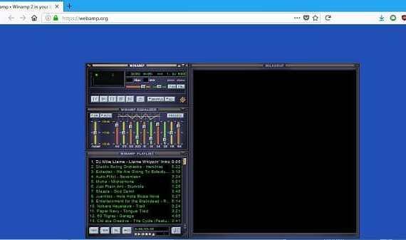 - Screenshot 7 5 - รำลึกความหลังวันวานด้วย Winamp เวอร์ชั่นเล่นบนเว็บไซต์ ทำทุกอย่างได้เหมือนของจริง