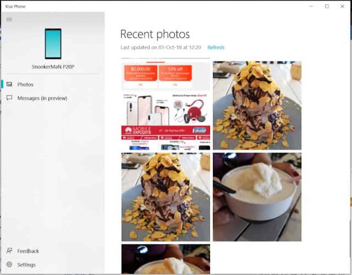 - Screenshot 12 4 - รีวิว Phone Mirroring ฟีเจอร์ใหม่ของ Windows 10 ที่จะมาเชื่อมมือถือกับ PC เข้าด้วยกัน