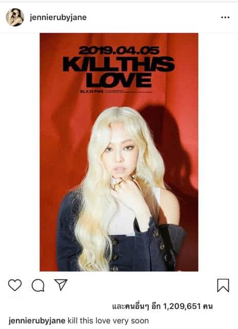 - แฟนทั่วโลกหวีด 'เจนนี่ BLACKPINK' คัมแบค 'KILL THIS LOVE' ในลุคผมบลอนด์ครั้งแรก!!