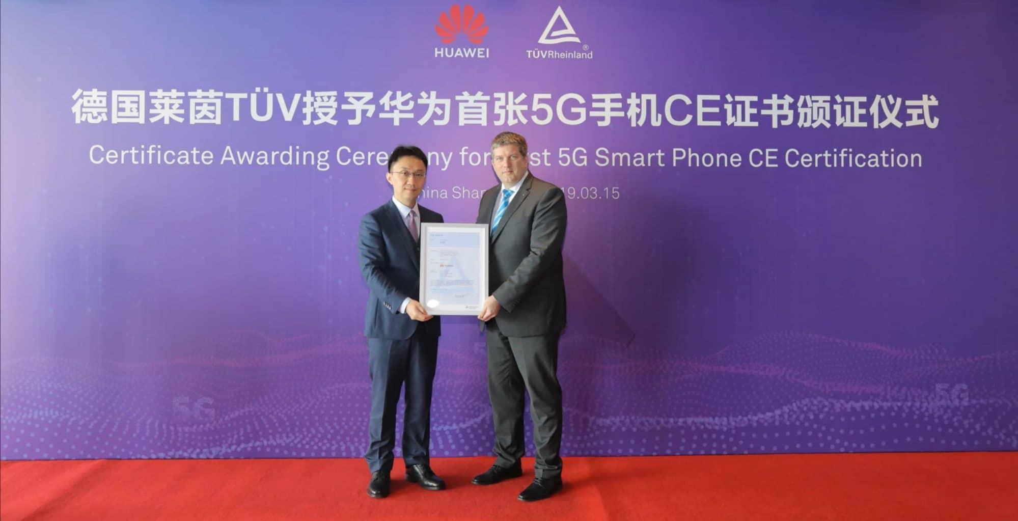 - HUAWEI Mate X คว้าใบรับรองคุณสมบัติ 5G CE ใบแรกของโลกจาก TÜV Rheinland