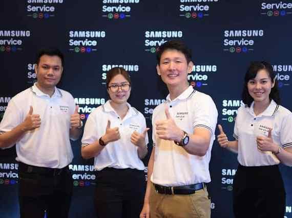 - SamsungService1 - ซัมซุงยกระดับการให้บริการลูกค้า มุ่งครองตำแหน่งแบรนด์อันดับ 1 รวดเร็ว ใส่ใจ ในทุกบริการ