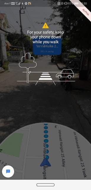 - ลองเล่น Google Maps นำทางด้วย AR เวอร์ชั่น Alpha ไม่ต้องกลัวเลี้ยวผิดซอยอีกต่อไป