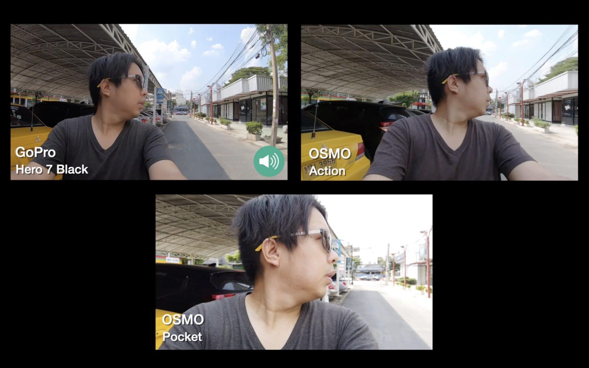 รีวิว osmo action เทียบกับ gopro 7 และ osmo pocket - รีวิว OSMO Action เทียบกับ GoPro 7 และ OSMO Pocket