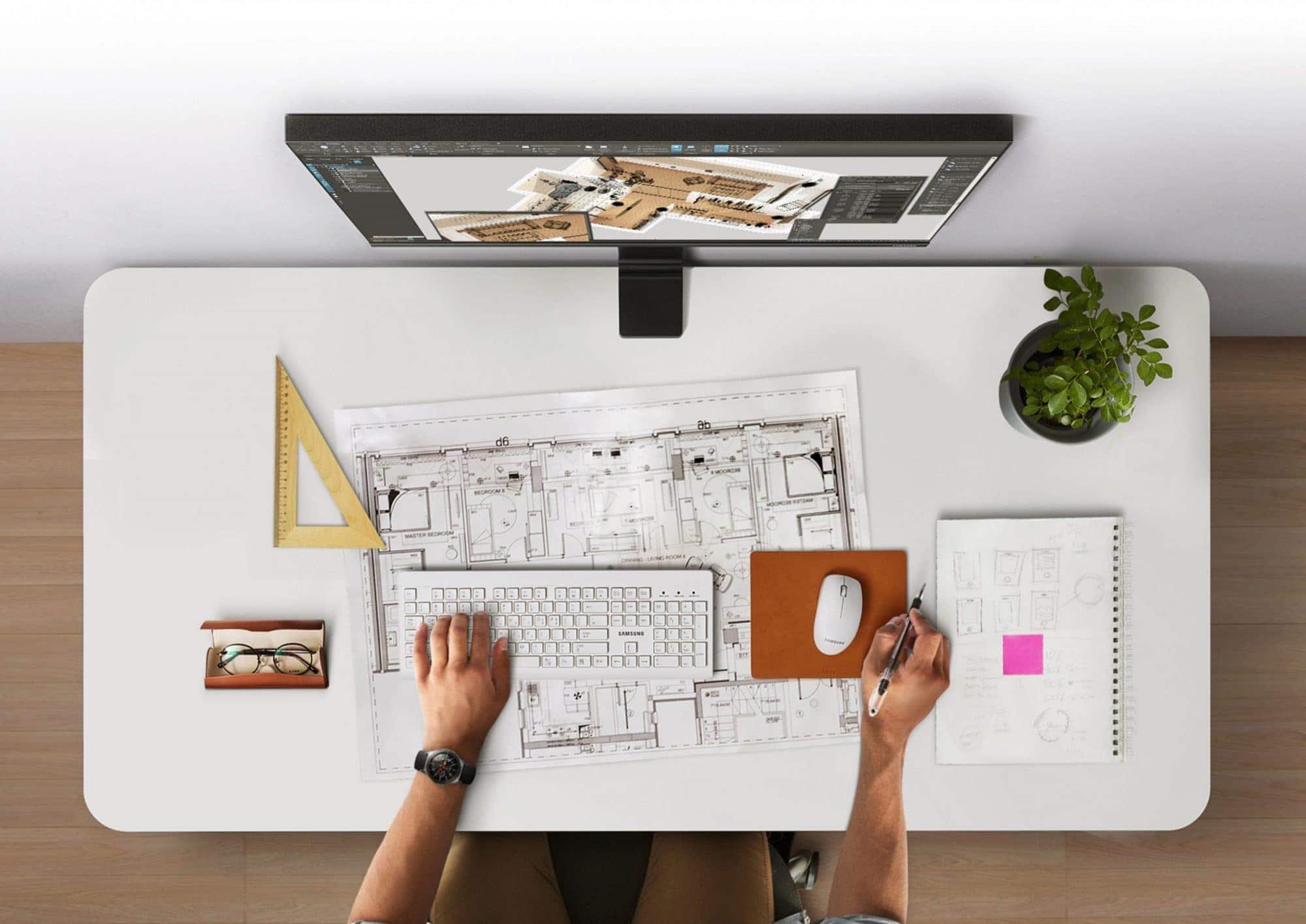 Samsung เปิดตัวจอ Space Monitor ใช้พื้นที่น้อย เพิ่มพื้นที่ทำงาน 3