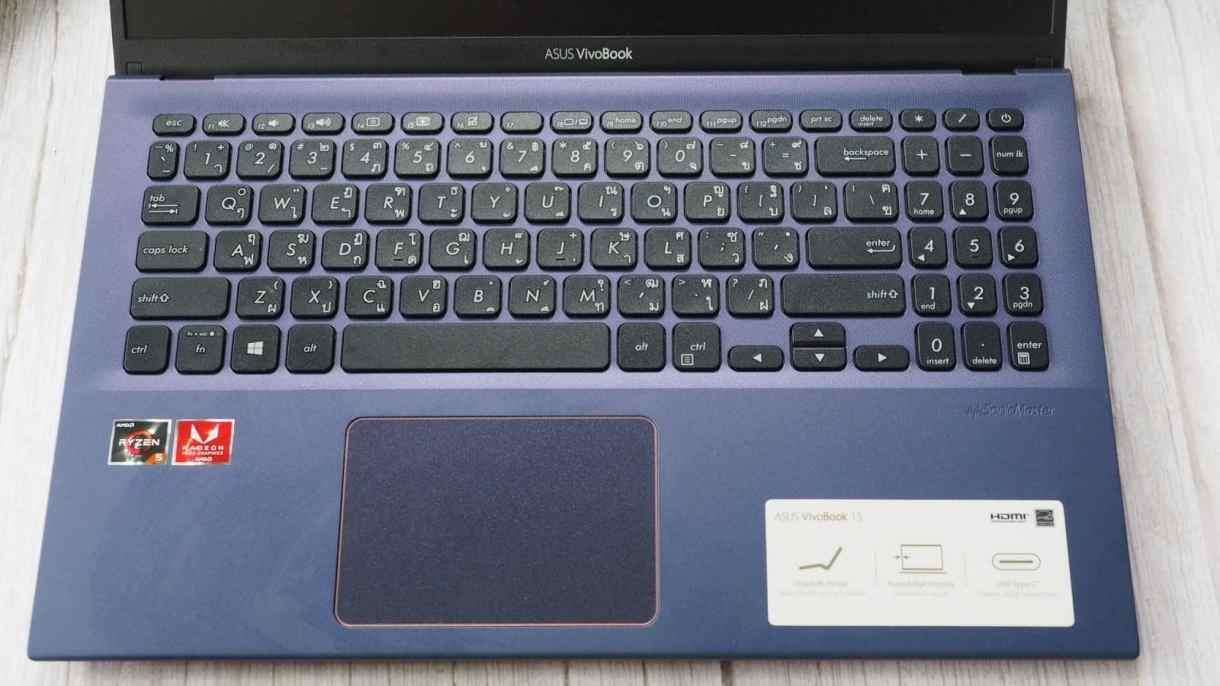 คีย์บอร์ด ASUS VivoBook 15 vivobook 15 - รีวิว ASUS VivoBook 15 X512D ขุมพลัง Ryzen 5 แรม 8 ใช้ SSD NVMe ในราคา 16,990.-
