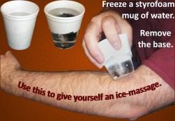 Ice massage home remedy for epicondylitis