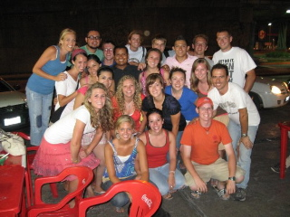 Some of the June 2009 interns and B2B staff members enjoying a night out at Fede's Tacos