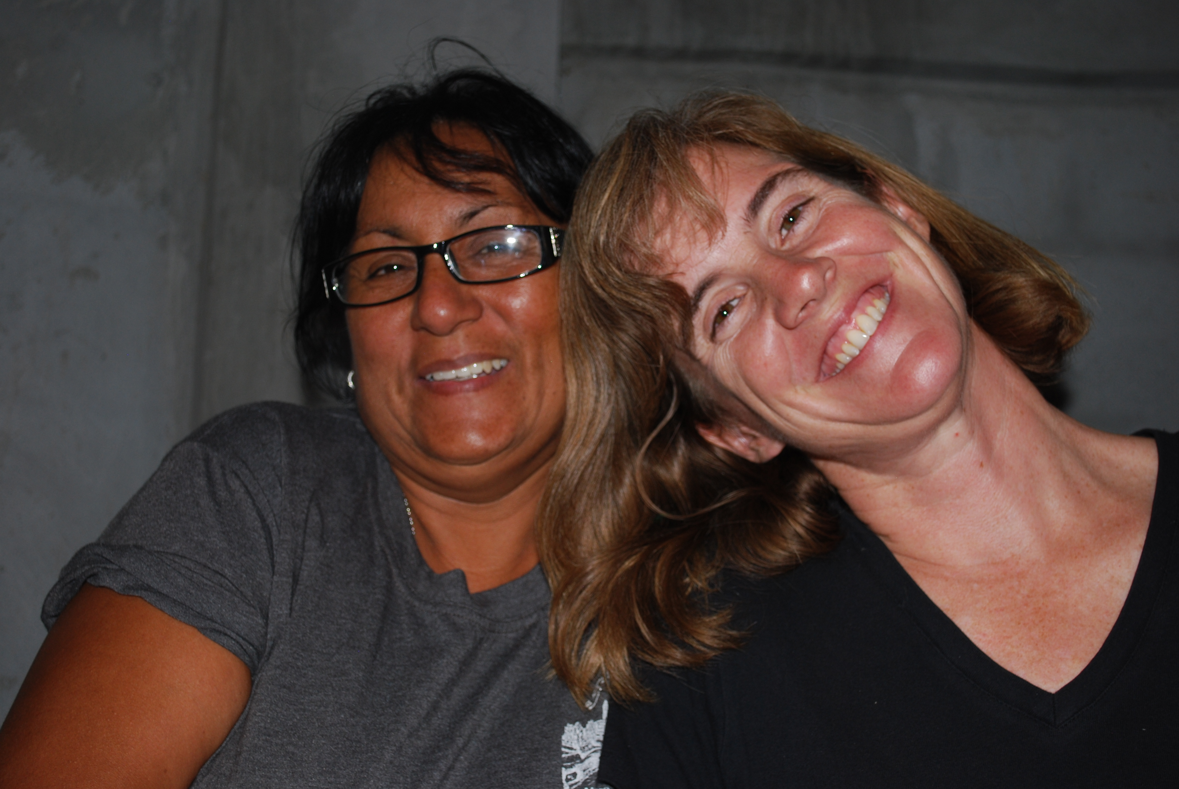 Cathy Huffer, Back2Back Mexico staff, with Meme, a local ministry partner